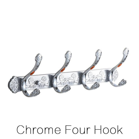 $59.76- White 46 Hook Wall Mounted Row Hook Hanger Clothes Robe Towel Rack Bathroom Door Bedroom Accessories Ha26W