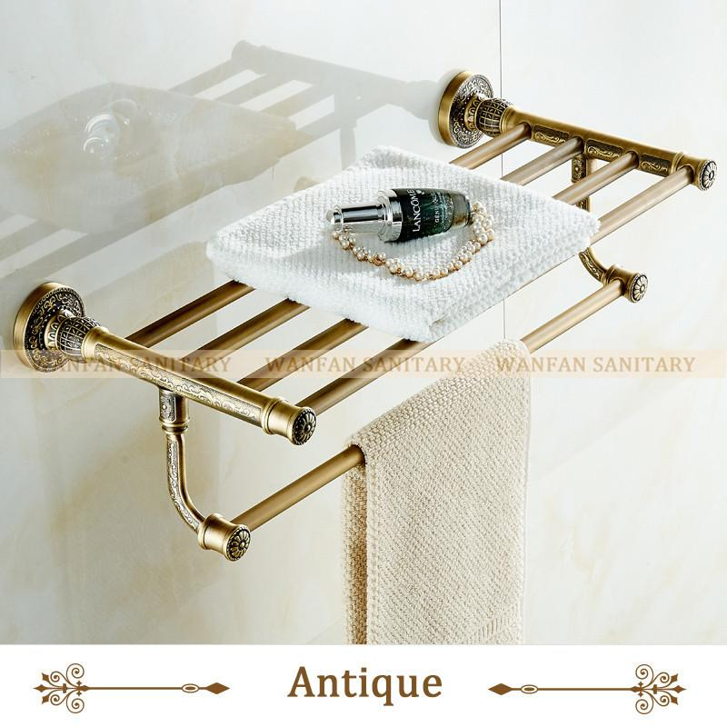 Buy White Towel Shelf Antique Bath Towel Rack Active Bath Towel Rack ...