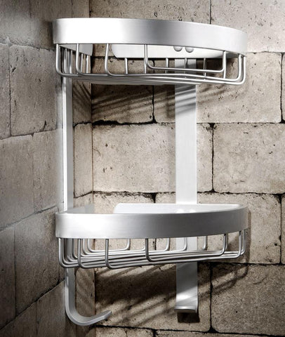 $45.54- Wall Mounted Corner Rack Single Tier Aluminum Shelf Wall Rack Shelf Bathroom Accessories Bathroom Furniture Toilet 2525
