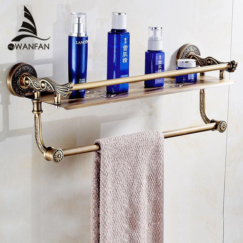 $118.32- New Wall Mount Layers Storage Basket Shower Room Bathroom Towel Rack Soap Dish Shampoo Rack Bathroom Shelves Sl7842