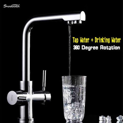 Design Swivel 360 Spray Chrome Brass Water Tap Wash Basin Sink Kitchen Torneira Cozinha Tap Mixer Faucet 8528