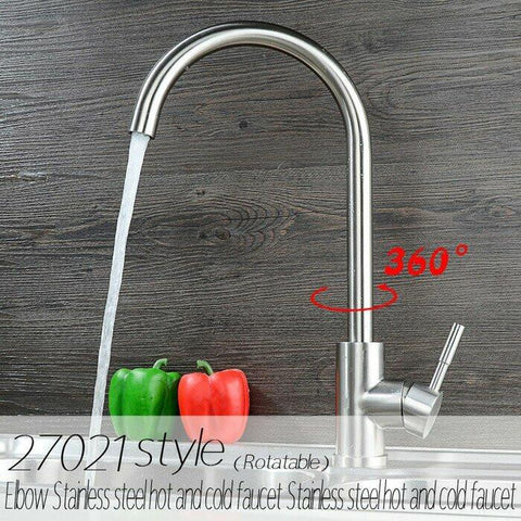 $119.00- Sus304 Stainless Steel Nickle Kitchen Faucet Various Styles 360 Rotation Hot Cold Water Sink Mixer Tap