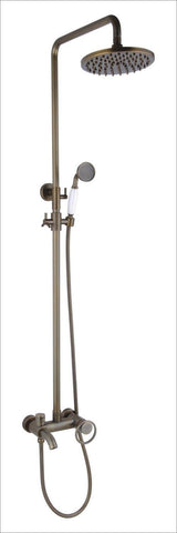 $460.84- Antique Brass Bathroom Raining Shower Set W/ 8Inch Brass Shower Head 12067