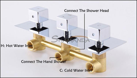 Luxury High Quality Bathroom Chrome Rain Shower Set Thermostatic Mixer Shower Set Wall Mounted Jm625L