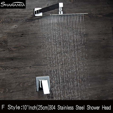 $188.70- Brass InWall Single Function Mixer Valve Bath Faucet Shower Set W/ Various Styles Shower Head40Cm Shower Arm