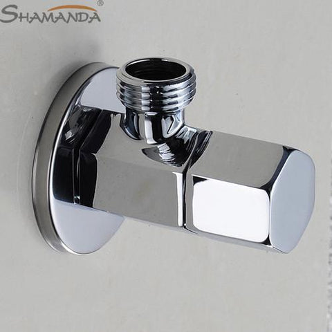 $16.15- Bathroom Products Solid Brass Chrome Finished Basin Kitchen Faucet Single Cold Angle Valve 16511
