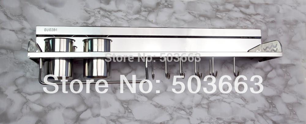 buy multifunction stainless steel kitchen tool wall mount shelve