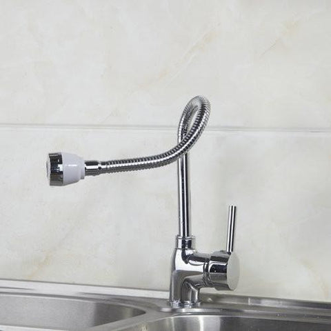 $68.56- Kitchen Faucet Cozinha Torneira 2014 Polished Chrome Swivel 85515Deck Mounted Single Hole FaucetsMixers & Taps
