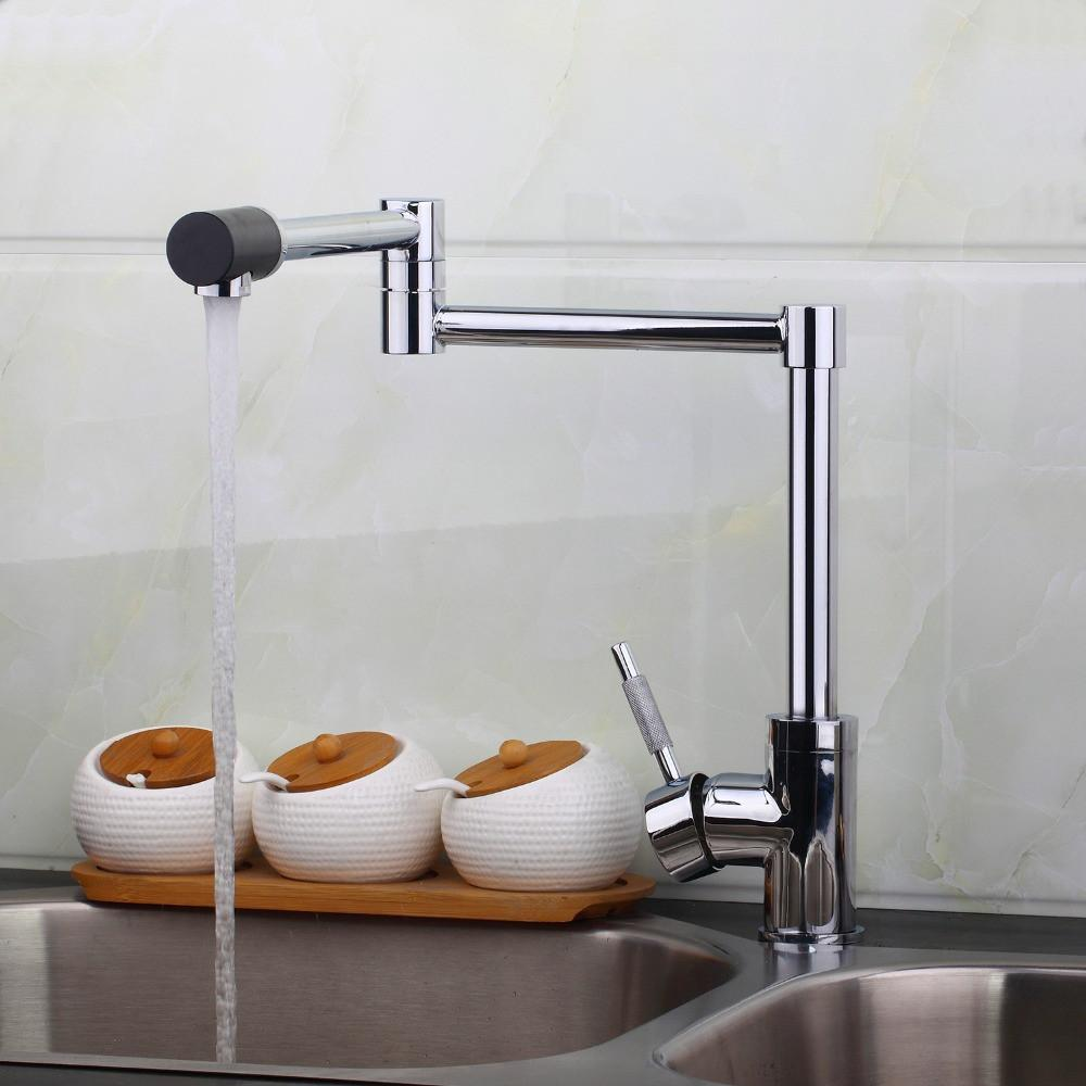$89.24- Design Swivel 360 Spray Chrome Brass Water Tap Wash Basin Sink Kitchen Torneira Cozinha Tap Mixer Faucet 8528