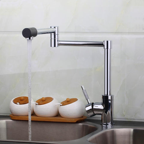 8528-4 Vessel Vanity Lavatory Design Swivel 360 Spray Chrome Brass Water Tap Sink Kitchen Torneira Cozinha Tap Mixer Faucet