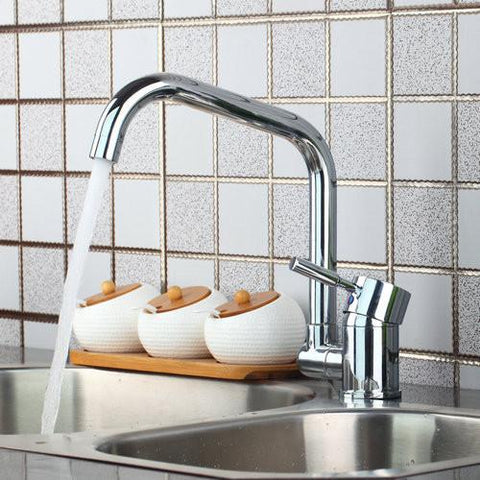 $122.45- Yanksmart Kitchen Torneira 92430 Vessel Lavatory Chrome Hot/Cold Mixer Water Tap Basin Kitchen Bathroom Wash Basin Faucet Hose