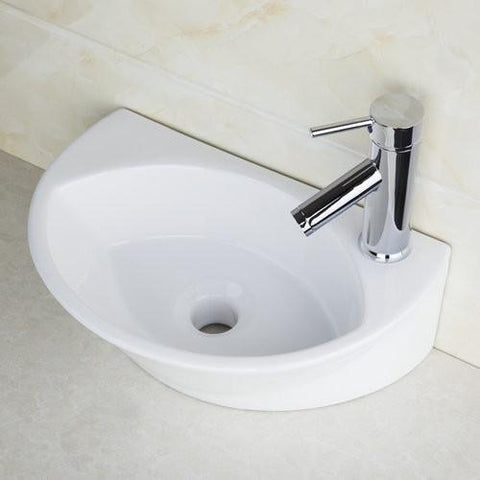 $225.56- Yanksmart Bathroom Sink Torneira Pia Ceramic Washbasin Countertop Short Chrome Brass Basin Faucet Tw32048051A Faucet Mixer Tap