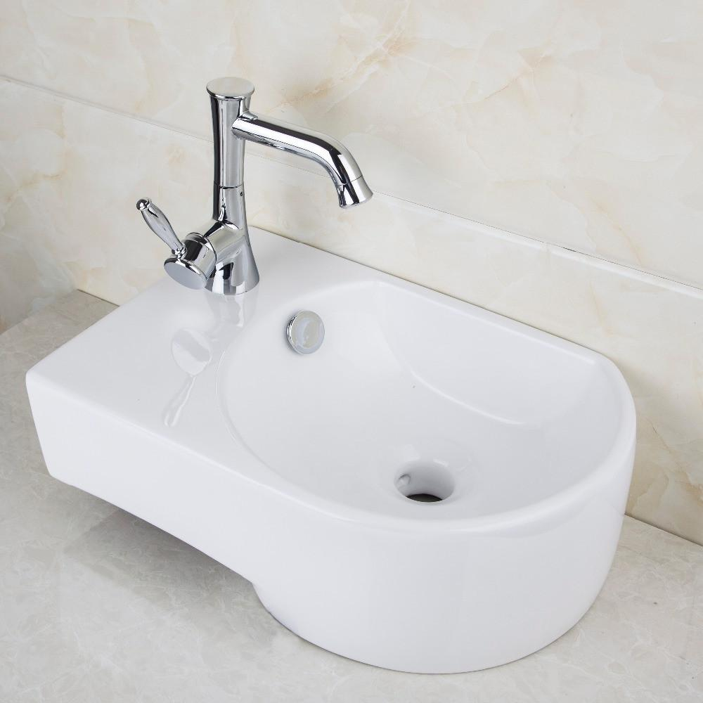 $283.80- Ceramic Washbasin 2014 Tw320910000 Vessel Lavatory Basin Bathroom Sink Bath Combine Brass FaucetsMixers & Taps