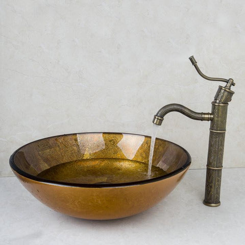 Yanksmart L5400 Washroom Antique Brass Rose Golden Bathroom Floor Drain Faucet Accessory Floor Drain
