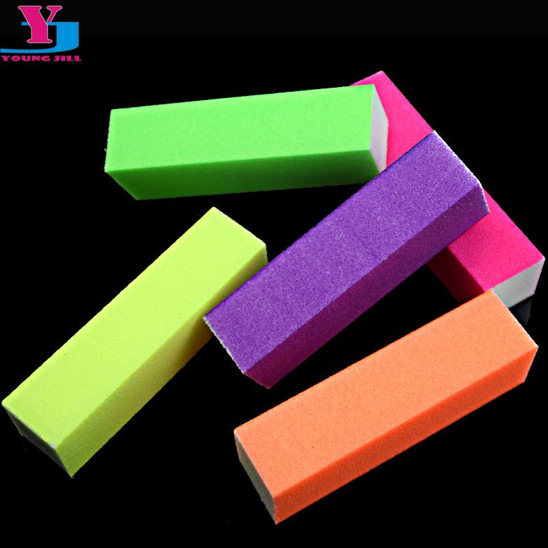 $2.93- 5pcs/lot Hot Nail Buffer Block Neon Color Buffing Sanding Buffer Block Files Manicure Nail Art Tips Women Beauty Manicure Tools