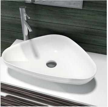 $485.44- Triangular Bathroom Solid Surface Stone Counter Top Sink Fashionable Wash Basin Rs38206