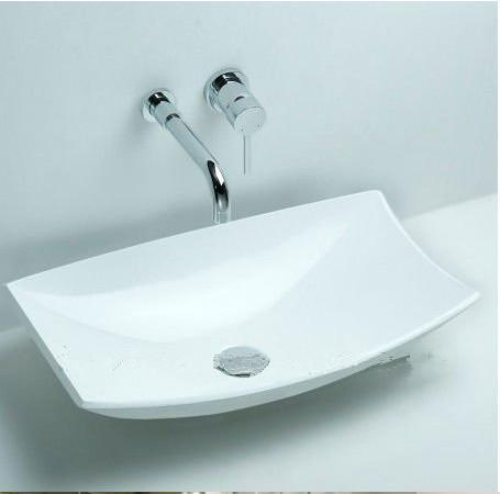 $490.36- Rectangular Bathroom Counter Top Sink Made Of Solid Surface Ston Wash Basin Xrs3828