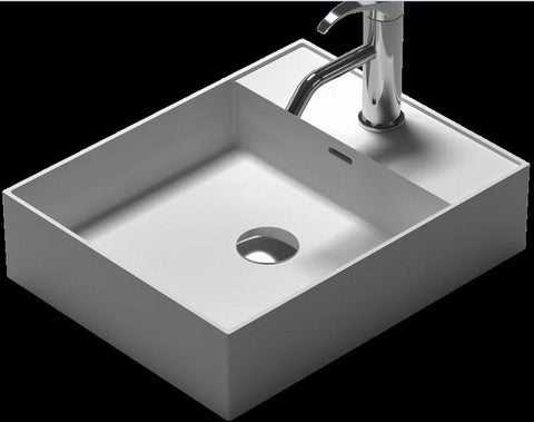 $506.76- Rectangular Bathroom Solid Surface Stone Under Counter Sink Fashionable Wash Basin Xrs38338
