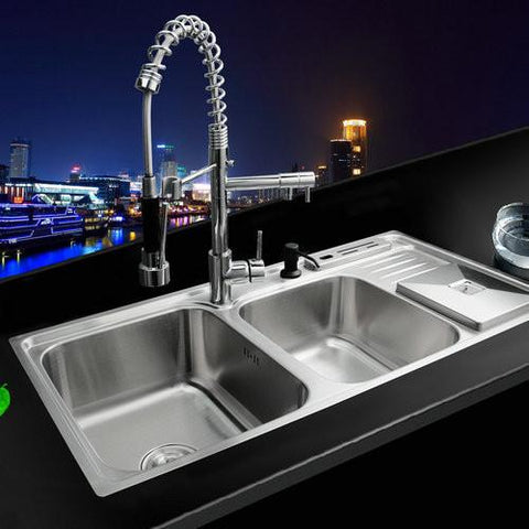 $662.22- Pull Out Down Kitchen FaucetBathroom Sink Faucet Torneira 304 Stainless Steel Sink Washbasin Countertop Ss148525 Mixer Tap