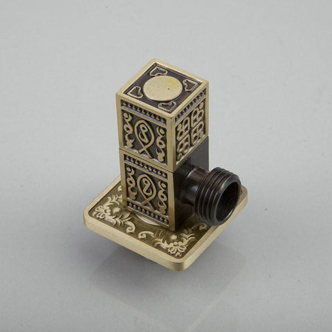 Square Solid Brass Higher Quality L5672A Antique Brass Bathroom Strainer Basin Sink Kitchen Angle Valve