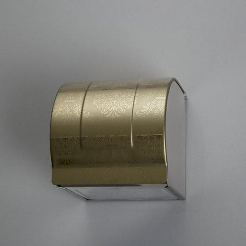$41.22- Paper Holders Stainless Steel Toilet Paper Box Toilet Paper Holder Golden Czj5106 Bathroom Tissue Box Paper Holders
