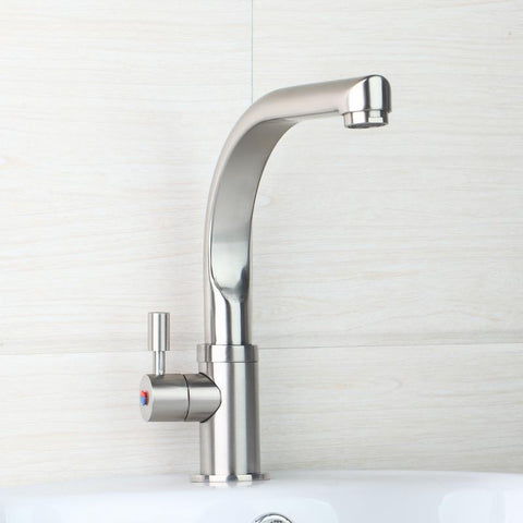$48.73- Yanksmart Nickel Brushed Kitchen Faucet Cold & Hot Kitchen Mixer 97191 Water Tap Kitchen Faucet Torneira Cozinha Swivel Spout