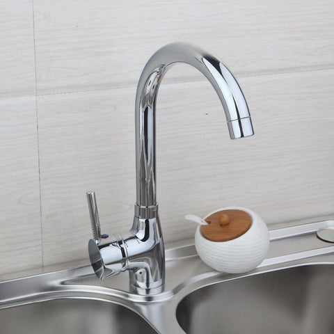 $46.62- Deck Mount Bathroom Faucet Vanity Vessel Sinks Mixer Tap Cold Hot Water Tap Kitchen Faucet