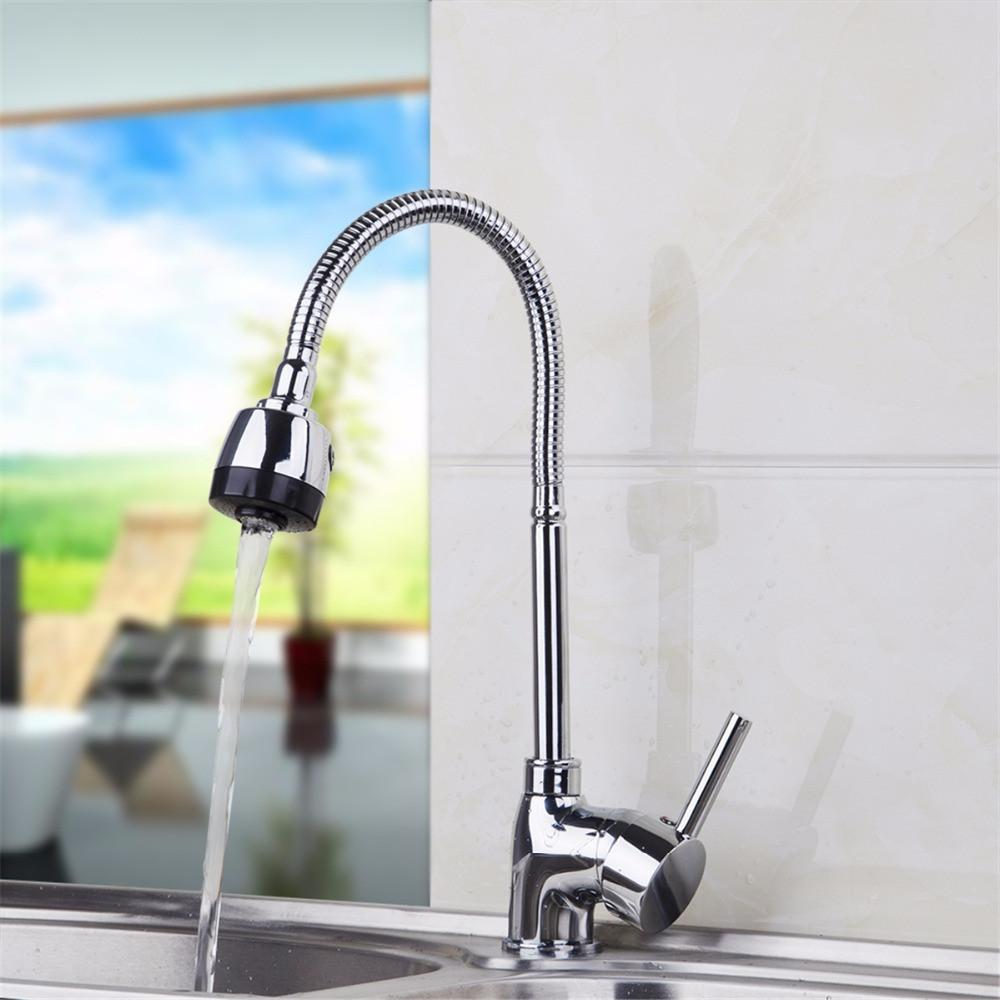 Buy Hot Cold Water Pull Out Kitchen Faucet Polished Chrome Finish ...