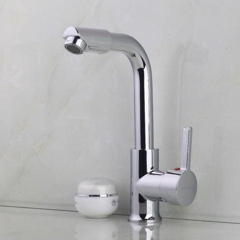 $66.58- Hot Brass Chrome Finish Bathroom Basin Faucet Hot Cold Water Mixer Tap