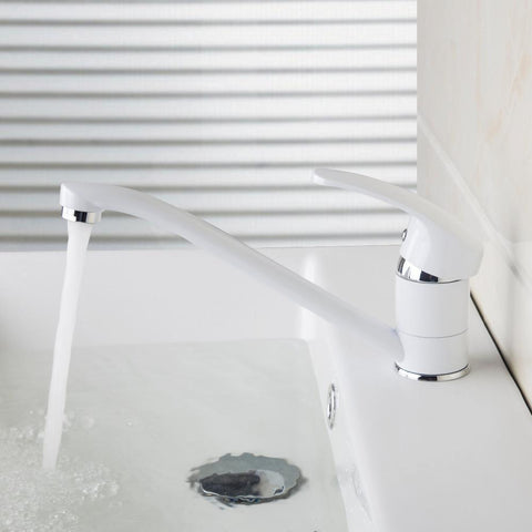 $88.47- White Contemporary Painting Faucets Bathroom Sink Basin Faucet Mixer Water Tap Home Improvement Bathroom Sink Faucet