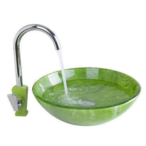 Hot/Cold Kitchen Swivel Tap+Yanksmart Bathroom Sink Washbasin Ceramic