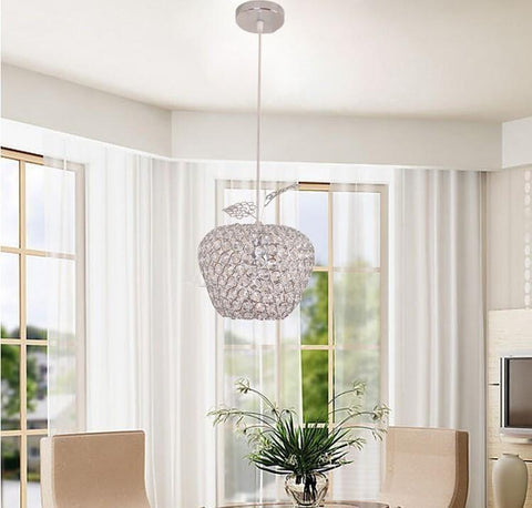 $50.83- New Minimalist Fashion 'S Besting Led Square K9 Crystal Apple Chandelier 85W260W Iron Art Crystal Light