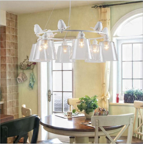Nordic Rh Loft Vintage American Rural Countryside Creative Restaurant Bar Wrought Iron Pendant Circle The Globe Lamp Lighting