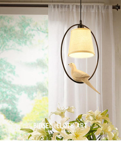 $67.48- Modern Retro Bird Chandeliers Led Lamps Decorative Art Led Chandelier Living Room Lamp E14 Led Lustre Lighting Chandeliers