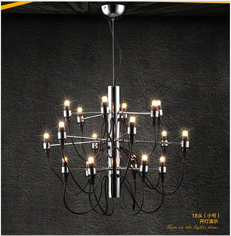 Continental Iron Lights Restaurant Chandelier Three Bedroom Lamp Living Room Ceiling Lights Minimalist Led Chandeliers