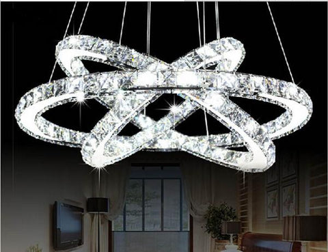 creative stainless steel crystal pendant lights led lamps modern k crystal lamp led lustre light shipping cm cm cm
