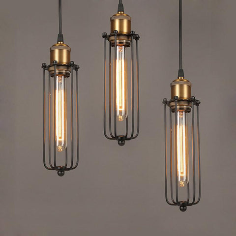 $36.74- Scandinavian Designer Pendant Light RH LOFT Industrial Warehouse Lamp Dining Room Den Bedside Bar Iron Pendant Lamps