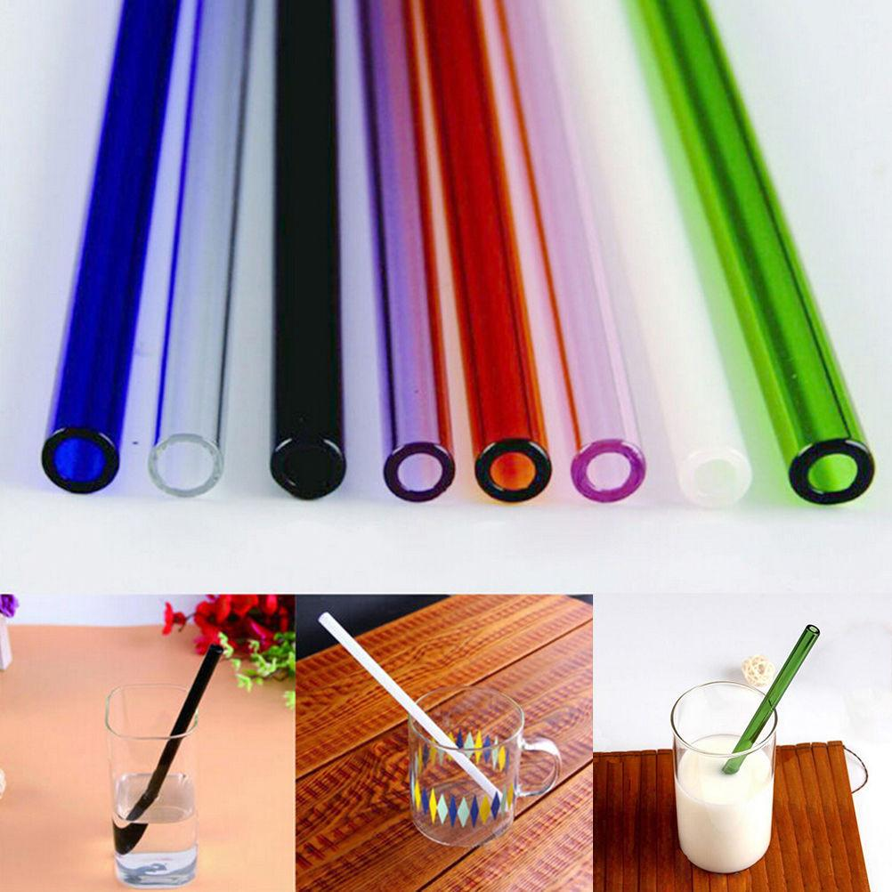 $2.26- 1Pc Handmade Healthy Glass Straw EcoFriendly Household Glass Straight Pipet Tubularis Snore Piece Tube