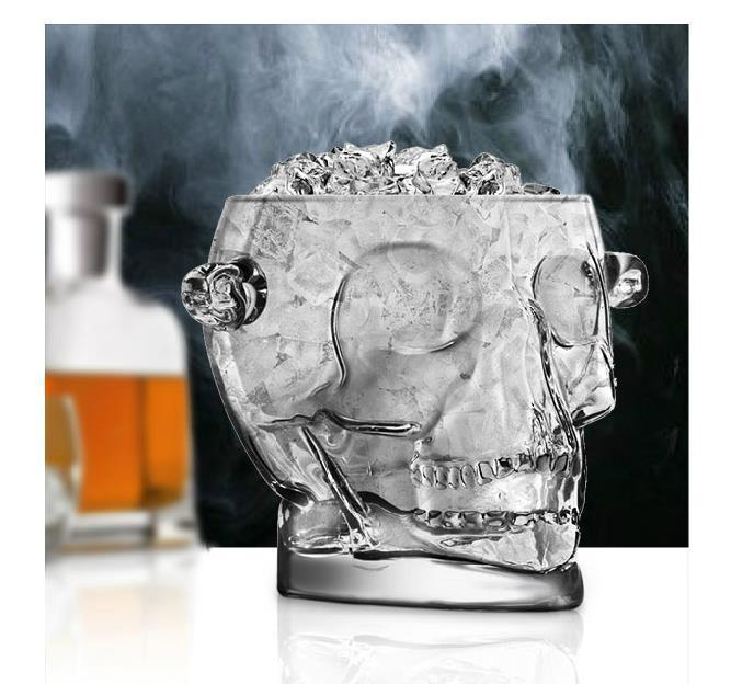 $149.60- 1600Ml Lead Glass Skull Head Ice Bucket Decorative Glassware Barware Craft Accessories For Whisky Vodka Red Wine