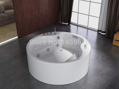 $3349.17- Round Sea Whirlpool Bathtub Acrylic Abs Composite Board Massage Hot Tub W8004