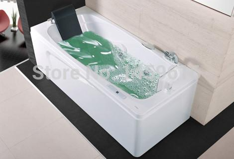 $2478.45- 67' Sea Left Head Rest Surfing Bathtub Acrylic Whirlpool Tub Piscine W/ Tv Massage Hot Tub W4003
