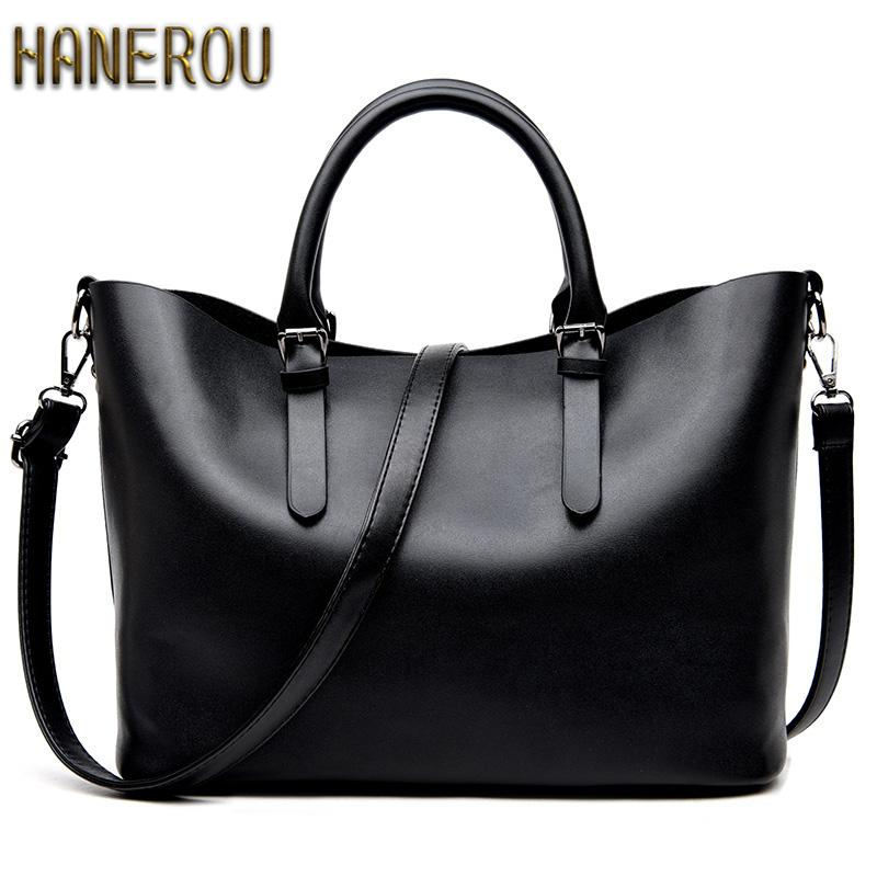 $34.31- Bolso Mujer Negro 2016 Fashion Hobos Women Bag Ladies Brand Leather Handbags Spring Casual Tote Bag Big Shoulder Bags For Woman