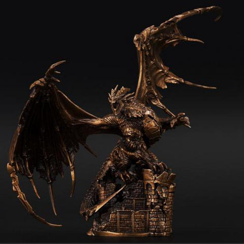 $958.40- Ogrm Crafts Wow World Metal Statue Bronze Deathwing Model Neltharion Figure