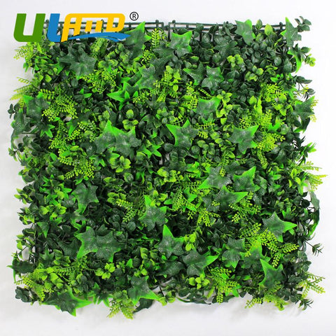 12 Pieces 50x50cm Plastic Privacy Ivy Fence Fake Plants Fencing Garden Decorative Artificial Boxwood hedge Panels