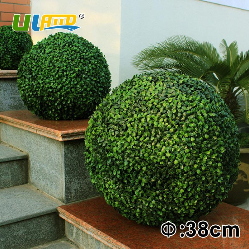 $105.02- 38Cm Decorative Artificial Boxwood Balls Fake Plants Topiary Balls For Garden Decoration & Ornaments