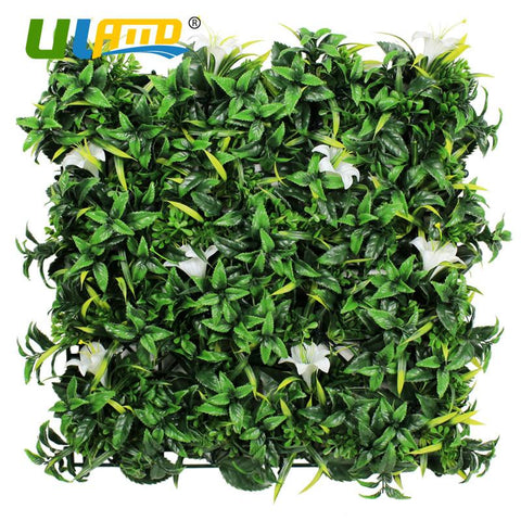 $296.84- Uland 12Pcs 50Cm*50Cm Artificial Lily Flowers Fence For Garden Decoration Artificial Plants Wall Covering Artificial Hedge