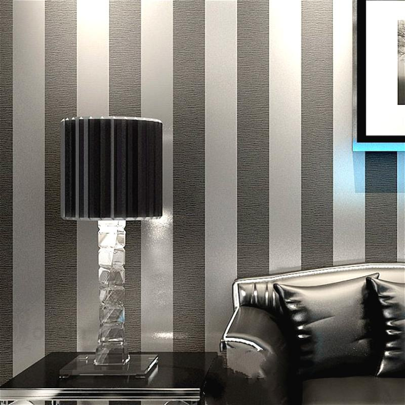 Modern Feature Brief Vertical Stripes Wallpaper Striped