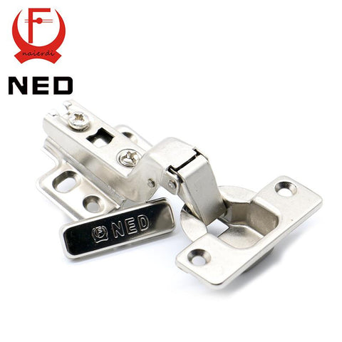$3.78- Brand Ned Self Elasti Half Overlay Hinge Cupboard Cabinet Kitchen Door Hinge 35Mm Cup Special Spring Hinge For Home Hardware
