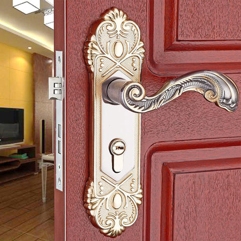 $17.60- 2016 Super Quality Hotel Home Office Door Lock Atrium Door LocksSecurity Lock