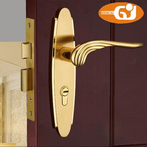 $66.24- Do Not Fade Europe Classic Golden Door Lock Room Mortise Lock Fullset
